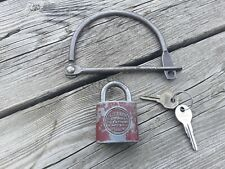 Antique / Vintage Hand Cuff Bicycle Lock with Yale Junior Lock and Keys