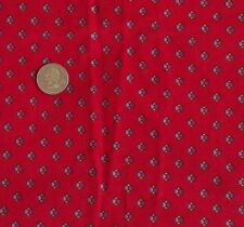 """Vintage Cotton Red Corduroy Fabric With Dots Pincord Fine Wale 42"""" Wide 2 Yards"""