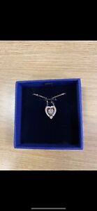 Swarovski Dancing Heart Rose Gold Necklace