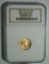 1999 $5 GOLD EAGLE WITH W NGC MS 69