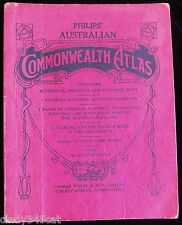 Vintage Australian Commonwealth School Atlas 1944 200 Illustrations Maps Climate