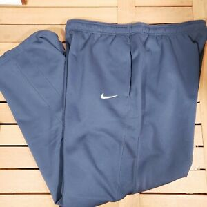Nike Therma-Fit Navy Blue Athletic Sweat Track Pants Mens Size 2XL XXL Polyester