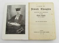1944 WWII Era A BOOK OF JEWISH THOUGHTS By London Chief Rabbi J H Hertz Office
