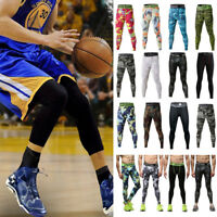 Men Compression Pants Base Under Layer Sports Apparel Long Fitness Gym Leggings