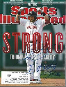 Jonny Gomes Boston Strong Signed SI Sports Illustrated JSA COA
