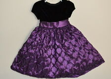 AMERICAN PRINCESS DRESS WEDDING FLOWER GIRL BIRTHDAY PARTY BLACK PURPLE SOUTACHE