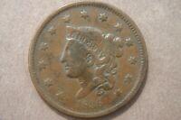 1836 Coronet Liberty Head Large Cent F