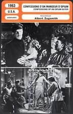 CONFESSIONS D'UN MANGEUR D'OPIUM - Price,Ho,Loo (Fiche Cinéma) 1963