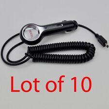 Lot of 10 Motorola Mini USB Type B Auto Car Charger DC12V to 5V