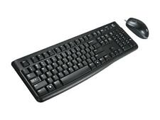 Logitech MK120 Wired USB Keyboard and Mouse - Black