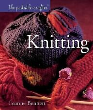 Knitting by Leanne Bennett HB - 26 Patterns - Felted Purse, Hats, Baby Sweaters+