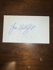 JIM GALLAGHER JR - GOLFER - AUTOGRAPH SIGNED - INDEX CARD -AUTHENTIC - C824