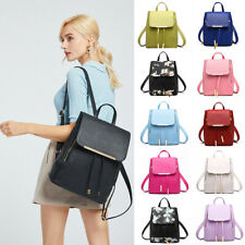 Women Girls Backpack PU Leather Shoulder School Bag Rusksack Large Waterproof