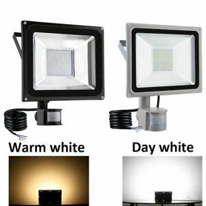 LED Floodlight PIR Sensor Motion 10/20/30/50/100W Outdoor Security Flood Light