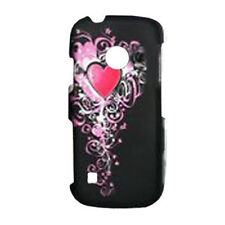 For LG Cosmos Touch VN270 Protector Hard Case Snap on Phone Cover Heart Design