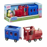 Peppa Pig Toy Miss Rabbit's Train & Carriage Playset Bundle Wth Figure NEW