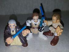 Star Wars Galactic Heroes Three Old & Young Obi Wan Action Figures Hasbro Loose