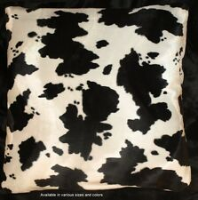 Cow Print Pillow Cover Faux Fur Pillow Euro 26x26 (set of 2)