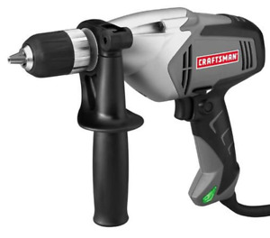 """NEW! CRAFTSMAN 1/2"""" VARIABLE SPEED 0-800 RPM DRILL, 6.0 AMP, CASE, 910116"""