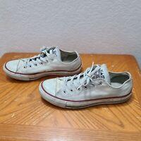 Converse All Star Size 6 Men's Size 8 Women's White Low Top Vintage