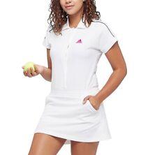 Adidas Damen Tennis Kleid mit Hose Wimbledon Muguruza Sport Polo Kleid weiß/pink