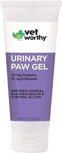 Vet Worthy Urinary Paw Gel Cats (3 oz) NEW Cranberry D- Manose oregon grape root