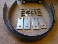 Land Rover Series 1 2 80 86 88 SWB Axle Check Strap Stainless Plate Complete Set