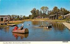 1940s Six Gun City US Route 2 Jefferson New Hampshire Log Boat ride 4643