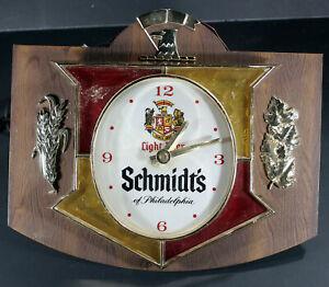 Vintage SCHMIDT'S light beer eagle light/clock