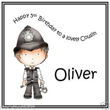 Boys Mens Handmade Personalised Police Card Policeman Any Age or Name