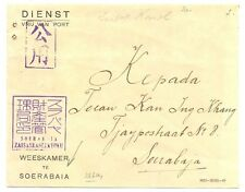JAPAN OCCUP. DUTCH INDIES  2604 ca.   POSTAGE FREE = ORPHAN CHAMBER= CENSOR VF