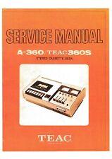 Service Manual-Anleitung für Teac A-360,A-360 S