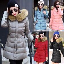 Winter Women Jacket Padded Fur Coat Hooded Parka