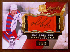 "2015-16 MARIO LEMIEUX UD THE CUP ""SCRIPTED SWATCHES"" GU PATCH & AUTOGRAPH / 35"