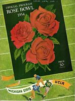 1954 Rose Bowl Football program Michigan State Spartans vs. UCLA Bruins ~ Good
