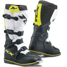 STIVALI BOOTS MOTO MX CROSS ENDURO TCX X-BLAST BLACK WHITE YELLOW FLUO TG 41