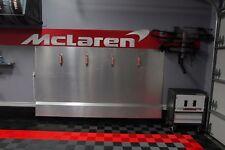 McLaren Logo Brushed Silver 6 foot Wide Garage Sign