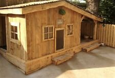 LUXURY SOLID DOG KENNEL - WITH SHADED SHELTER - MADE TO MEASURE TO ORDER.