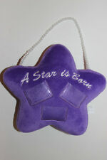 "Hanging Door Knob Plush Soft Stuffed Pillow ""A Star is Born"" Holds 3 Pics Pearls"