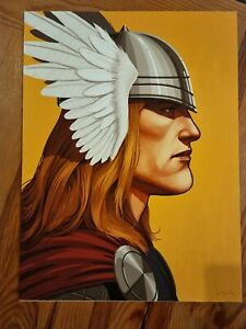 Mike Mitchell Thor Marvel Portrait  Mondo Limited Edition Signed  & numberd /110