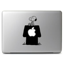 Snoopy Sitting On His Apple Doghouse for Macbook Laptop Car Window Decal Sticker