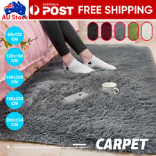 Floor Mat Carpet Rugs Shaggy Rug Ultra Soft Shag Area Mat Bedroom Living Room AU