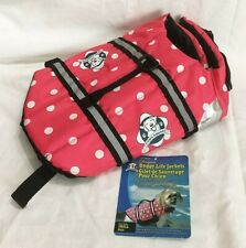 PAWS ABOARD Doggy Life Jacket, Small Pink Polka Dot, Model PP1300