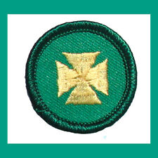 FIRST AID Girl Scout 2001 Jr. Jade BADGE Maltese Cross Patch Multiples