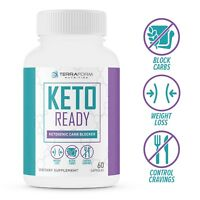Keto Diet Pills - Keto Ready - CARB BLOCKER, Weight Loss for Keto Diet - 1 Month