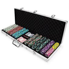 NEW 600 Poker Knights 13.5 Gram Poker Chips Set Aluminum Case Pick Chips