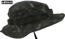 Combat US Military Army BTP Black Camo Wide Brimmed Jungle Boonie Hat Sun Hat