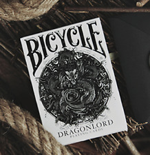 Bicycle Dragonlord White Edition Playing Cards (Includes 5 Gaff Cards) Brand New