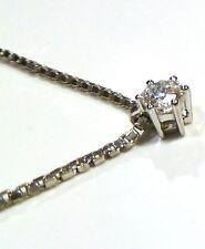 Sehr gute Halsketten und Anhänger aus Weißgold für Damen mit VS Reinheit