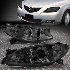 For 04 09 Mazda 3 Sedan Smoked Housing Clear Corner Projector Headlight Headlamp Fits Mazda 3
